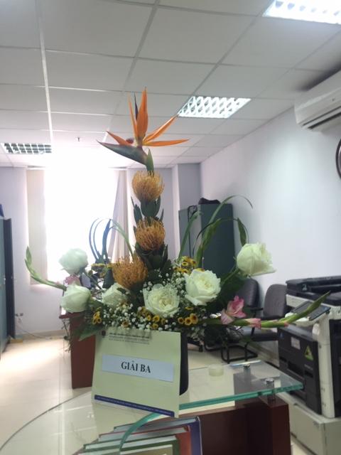 Hội thi cắm hoa nghệ thuật nhân dịp kỷ niệm Ngày Phụ nữ Việt Nam 20-10
